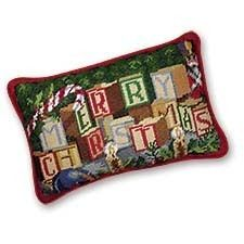8x12 inches Needle Point Saying Pillow inches Merry Christmas inches