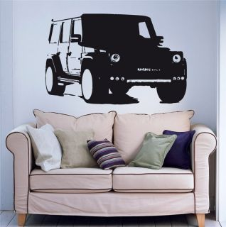 Wall Decal Sticker Mercedes Benz G Class Brabus MK001