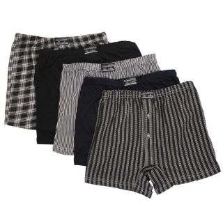 12 x Mens Button Fly Jersey Boxer Shorts Natural Cotton Rich Boxers