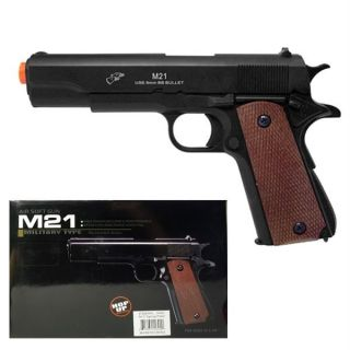 DE Full Scale Plastic Metal Airsoft 1911 Pistol Gun 45 Replica New M21