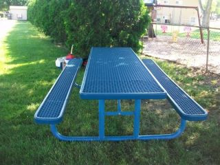 Steel Rubber Coated 10 Picnic Table