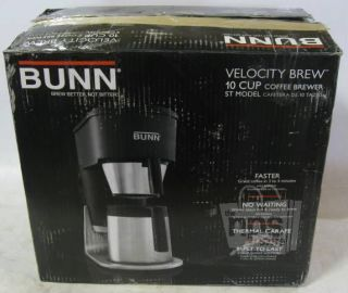 St 10 Cup Stainless Steel Water Tank Velocity Brew Coffee Maker
