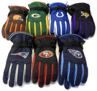 NFL Reebok Team Apparel Mens Winter Gloves Choose Size New