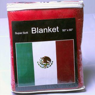 Mexico Mexican Flag Fleece Blanket Cobija Manta Afghan Bandera de