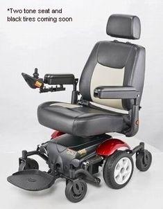 Merits P326A Vision Sport Mid Wheel Drive Electric Power Wheelchair