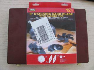 Mibro 12 Piece Carbide Stacking Dado Blade Set in Case Brand New