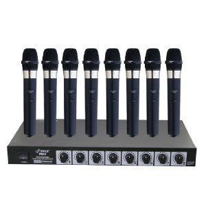 Pyle 8 Mic Professional VHF Wireless Microphone System