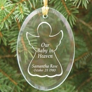 Personalized Our Baby in Heaven Christmas Ornament Engraved Memorial