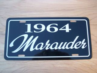 1964 Mercury Marauder License Plate Tag 64 Sign