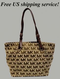 MICHAEL KORS Logo E W Signature Jacquard Tote Bag Purse Msrp 168 x