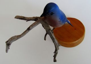 Henry Menard Signed Carved DATED1993 and Hand Painted Bird