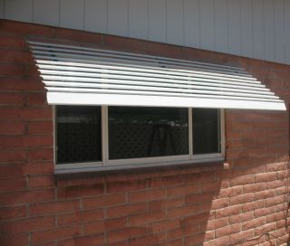 4ft aluminum window or door awning with decorative scrolls