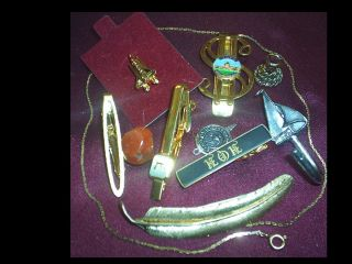 Vintage 12k Gold Brooch Rawcliffe Pin Estate Amita Clip Junk Drawer