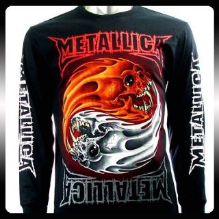 Metallica Biker Music Band LS Long Sleeve T shirt Sz M Rock Punk Heavy