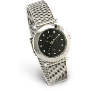 Skagen Denmark 107SSSBD Stainless Steel Mesh Band Watch