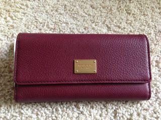 Michael Michael Kors Jet Set Checkbook Wallet Leather Bordeaux