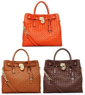 Michael Michael Kors Hamilton Large N s North South Woven Tote MSRP $
