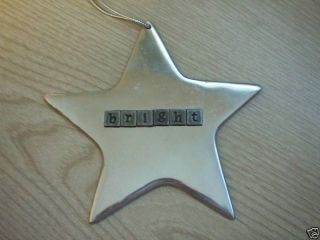 Mexican Pewter Celestial Star Christmas Tree Ornament