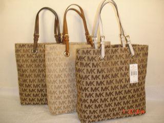 Michael Kors Items Tote MK Logo Signature Jacquard Handbag $198