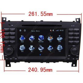 04 07 Mercedes Benz C Class W203 Car GPS Navigation  Radio TV iPod