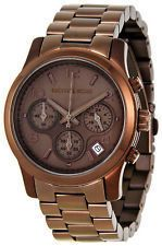 New $250 Michael Kors Womens Brown Tone Stainless Steel Watch MK5492