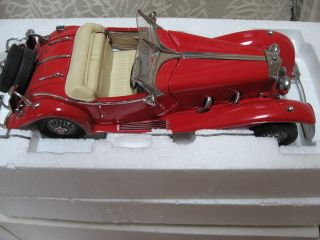 Franklin Mint Die Cast 1935 Mercedes Benz 500 K Special Roadster 1 24