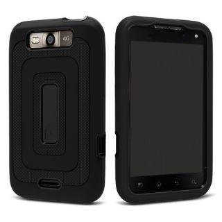 LG Connect 4G MS840 Metro Pcs Dual Layer Hybrid Case Black Black