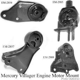 Mercury Villager Nissan 1999 02 Engine Motor Mount Set
