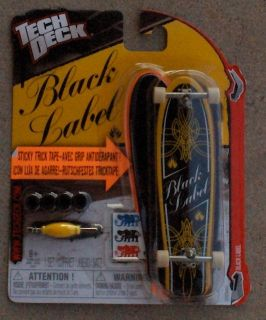 Black Label Tech Deck Skateboard Mini Fingerboard Longboard NIP