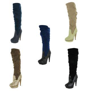 Michael Antonio Barstow Womens Boots Knee High Glitter