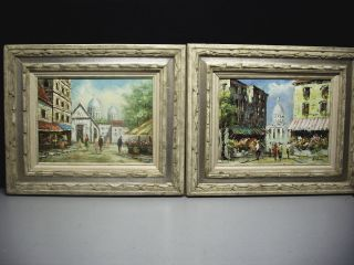 Original Oil Paintings Paris France Montmartre Signed Home Decor Wall