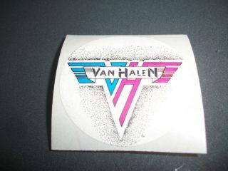 Vintage Logo Sticker 80s Eddie David Lee Roth Alex Michael Anthony