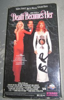 Death Becomes Her VHS Movie Meryl Streep Bruce Willis Goldie Hawn