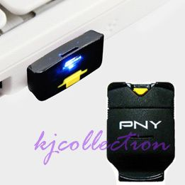 PNY 4GB Micro SDHC TF Card USB Reader Phone Baby Black