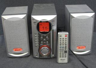 Memorex Micro System AM FM Slot CD Player Stereo MX4100 Speakers