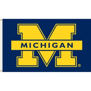 Schutt NCAA University of Michigan Wolverines 2 Sided Rivals Flag 3x5