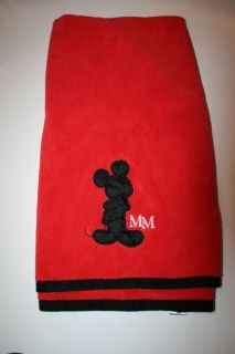Mickey Mouse Bathroom Towel Bath Red Black