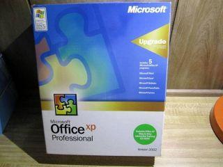 Microsoft XP Office Professional Version 2002