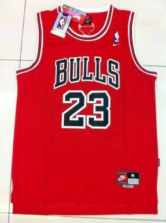 Michael Jordan Chicago Bulls 23 Swingman Away Red Jersey