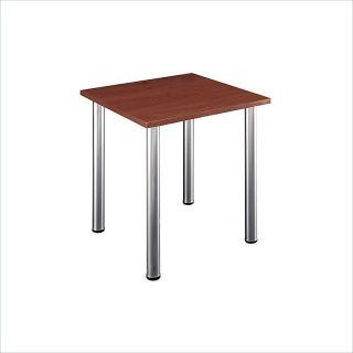 Bush Furniture Aspen Square w Wood Top Metal Legs Work Table