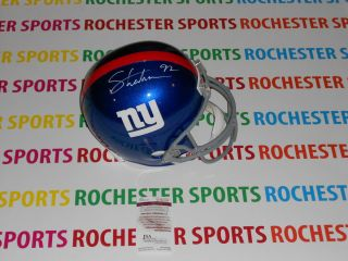 Michael Strahan Autographed Signed New York Giants Helmet JSA W192198