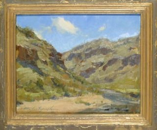 Michael Lynch Original Oil Painting Taos Box