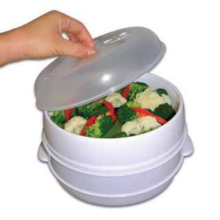 Tier Microwave Steamer Food Cooker as Seen on TV