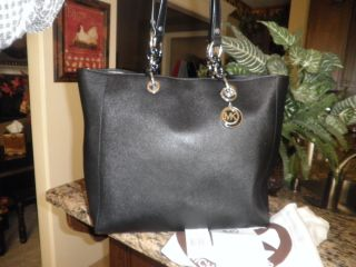Michael Kors Large N s Tote Black Saffiano Leather