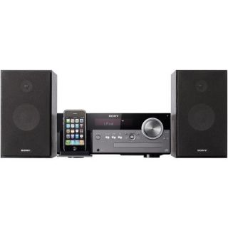 SONY MICRO SHELF SYSTEM WITH CD PLAYER CHARGING SPEAKER DOCK FOR IPOD