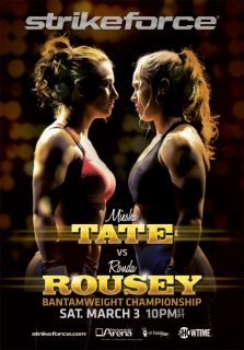 Strikeforce Poster Ronda Rousey Miesha Tate UFC MMA Pride Hot