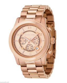Michael Kors Rose Gold Tone Oversize Runway Chronograph Watch MK8096
