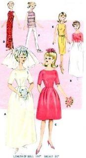 Vintage 11 5 Barbie Midge Doll Clothes Pattern 3088