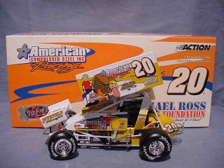 2004 TONY STEWART MICHAEL ROSS SPRINT CAR ACTION XTREME 1 24 WORLD OF