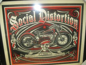 2010 Tour Concert Poster Customed Framed Brand New Mike Ness